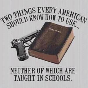 gun and bible